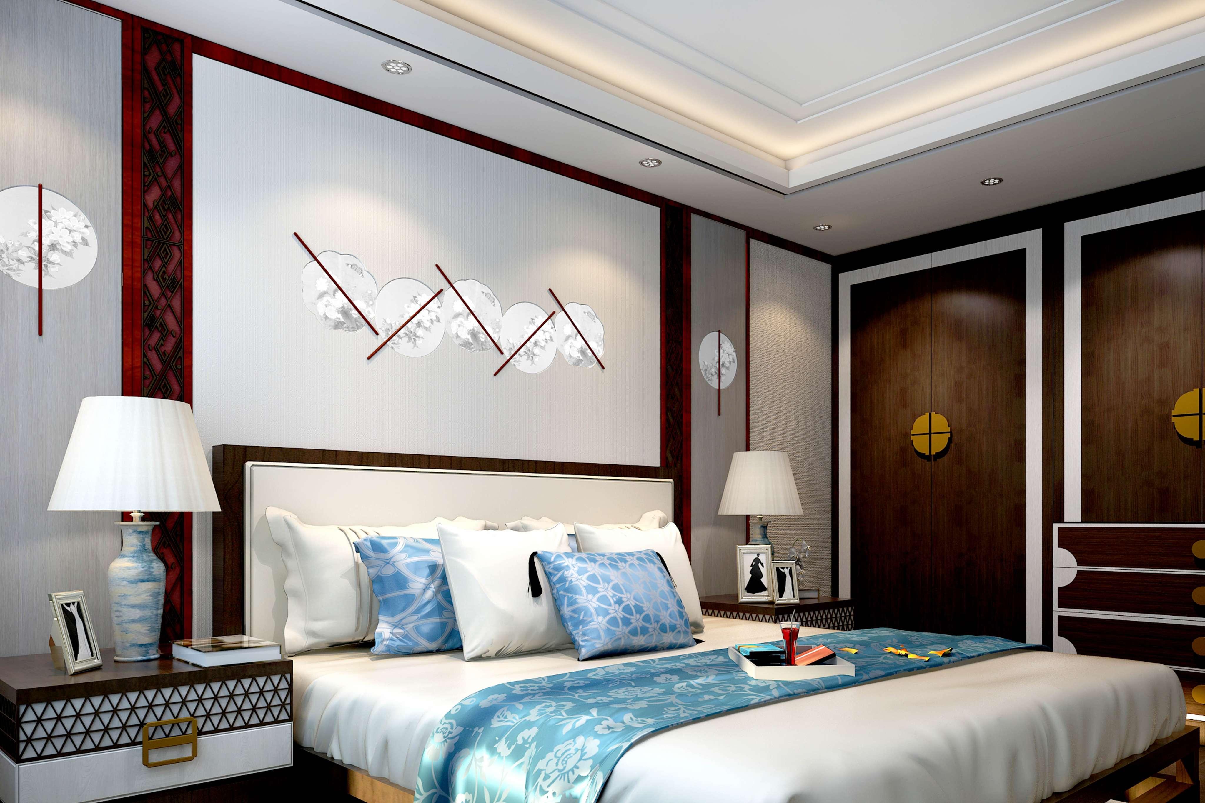 fabeni客卧床头背景墙墙板